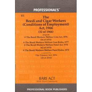 Professional's Bare Act on The Beedi and Cigar Workers (Conditions of Employment) Act, 1966