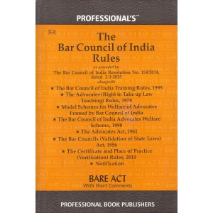 Professional's Bare Act on The Bar Council of India Rules