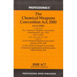 The Chemical Weapons Convention Act, 2000 Bare Act by Professional Book Publishers