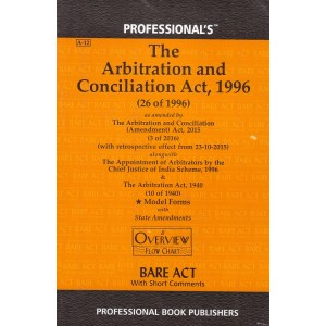 Professional's Arbitration and Conciliation Act, 1996 Bare Act