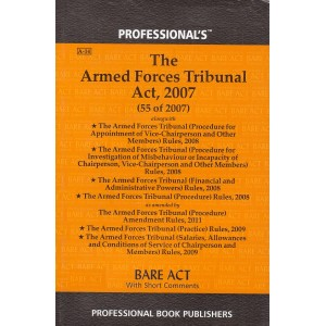 Professional's The Armed Forces Tribunal Act, 2007 Bare Act