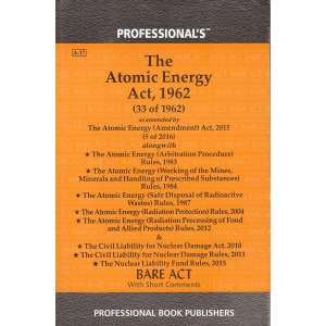 Professional's The Atomic Energy Act, 1962 Bare Act