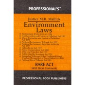 Professional's Environment Laws [Pocket] Bare Act by Justice M. R. Mallick