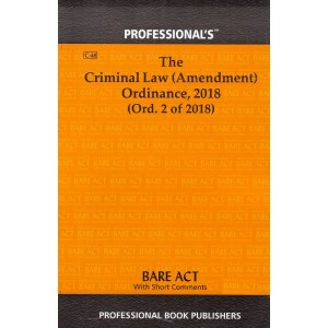 Professional's Bare Act on The Criminal Law (Amendent) Ordinance, 2018