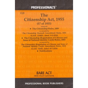 Professional's Citizenship Act, 1955 Bare Act