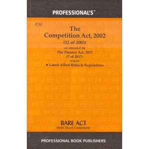 Professional Book Publisher's The Competition Act, 2002 Bare Act