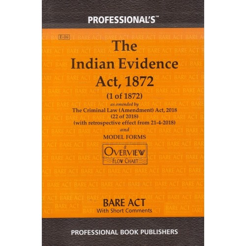 Professional's Indian Evidence Act, 1872 Bare Act [Edn. 2021]