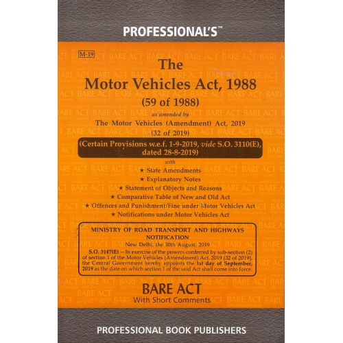 Professional's Motor Vehicles Act, 1988 Bare Act [Edn. 2021]