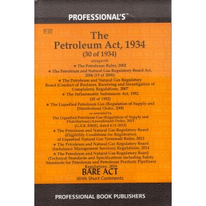 Professional's Petroleum Act, 1934 Bare Act