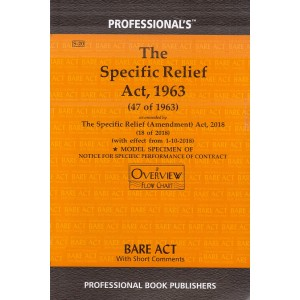 Professional's Specific Relief Act, 1963 (Bare Act with Short Comments)