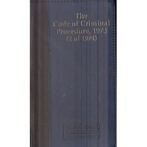 Professional's The Code of Criminal Procedure, 1973 (2 of 1974) | Cr.P.C. Palmtop Leather Bound Edition
