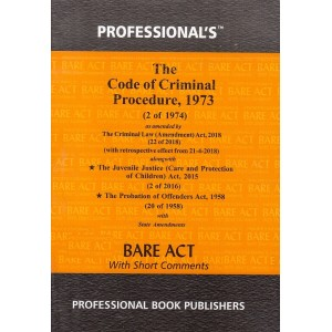 Professional's Code of Criminal Procedure, 1973 [Cr.P.C. Pocket] Bare Act