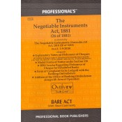 Professional's The Negotiable Instruments Act, 1881 Bare Act