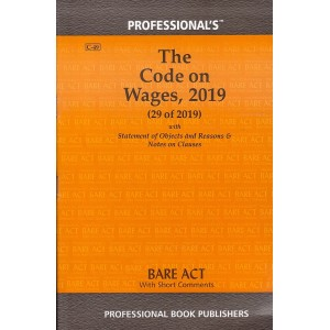 Professional's The Code on Wages, 2019 Bare Act