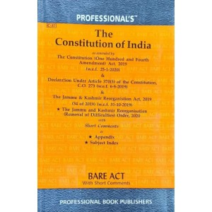 Professional's Constitution of India Bare Act [Edn. 2021]