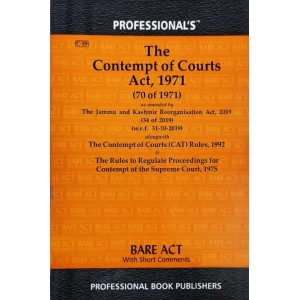 Professional's Contempt of Courts Act, 1971 Bare Act 2021