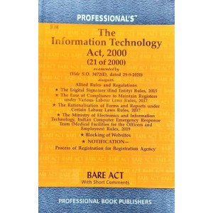 Professional's Information Technology (IT) Act, 2000 Bare Act [Edn. 2021]