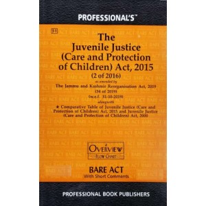 Professional's The Juvenile Justice (Care and Protection of Children) Act, 2015 Bare Act 2021| JJ Act