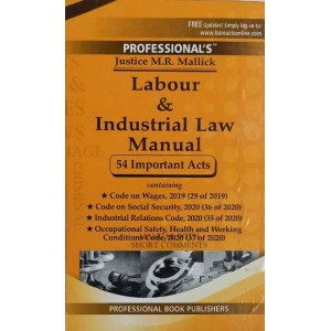 Professional's Labour and Industrial Law Manual by Justice M.R. Mallick [Pocket 2021]
