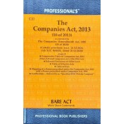 Companies Act, 2013 Bare Act by Professional Book Publishers [Edn. 2021]