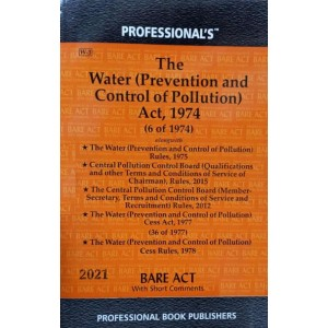 Professional's Water (Prevention & Control of Pollution) Act, 1974 Bare Act 2021