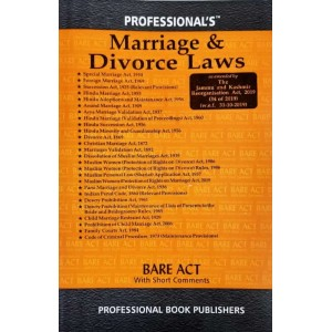 Professional's Marriage & Divorce Laws [Family Law I & II - Bare Acts] 2021