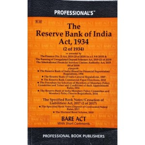 Professional's Reserve Bank Of India Act, 1934 Bare Act 2021