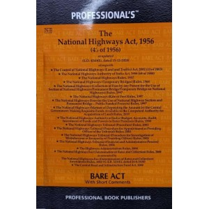 Professional's Bare Act on National Highway Act, 1956