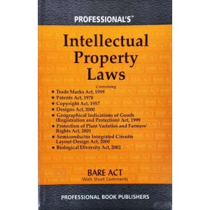 Professional's Intellectual Property Laws [IPR] Acts Only Bare Act 2021