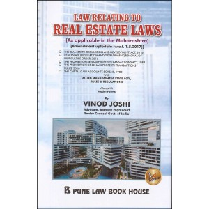 Pune Law Book House's Law Relating to Real Estate Laws [HB] by Vinod Joshi