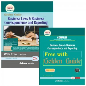 Reliance's Golden Guide on Business Laws & Business Correspondence and Reporting with Free Compiler for CA Foundation May 2020 Exam [New Syllabus]