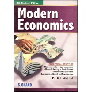 S. Chand Publication's Modern Economics For B.S.L by H.L. Ahuja