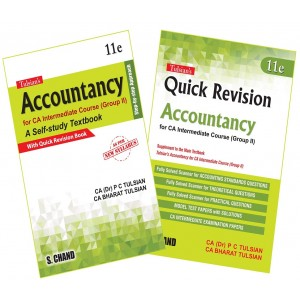 Tulsian's Accountancy for CA Intermediate Group II  [New Syllabus] Along with Quick Revision Book by Dr. P. C. Tulsian & CA. Bharat Tulsian | S. Chand Publishing