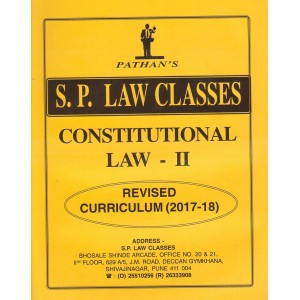 S. P. Law Class's Constitutional Law II for BA. LL.B [New Syllabus] by Prof. A. U. Pathan