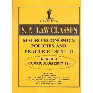 Pathan's Macro Economics Policies And Practices- Sem-II By Prof. A. U. Pathan | S. P. Law Classes