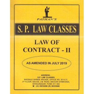 Pathan's Law of Contract - II For BA.LL.B [July 2019 New Syllabus] by Prof. A. U. Pathan | S. P. Law Classes