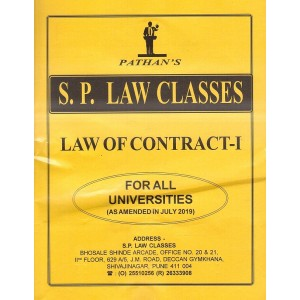 Pathan's Law of Contract - I For BA.LL.B [July 2019 New Syllabus] by Prof. A. U. Pathan | S. P. Law Classes