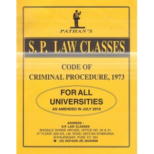Pathan's Code of Criminal Procedure, 1973 (Crpc) For BA.LL.B & LL.B [July 2019 New Syllabus] by Prof. A. U. Pathan | S. P. Law Classes