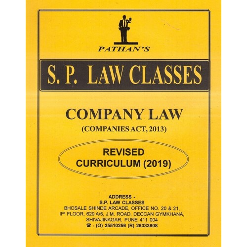 S. P. Law Classes Company Law (Companies Act, 2013) Notes for BA. LL.B & LL.B (New Syllabus 2019) by Prof. A. U. Pathan Sir