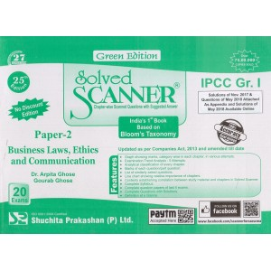 Shuchita Prakashan's Business Laws, Ethics and Communication Solved Scanner for CA-IPCC Group I Paper 2 Nov. 2018 Exam [Old Syllabus]