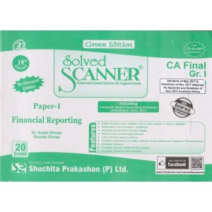 Shuchita Prakashan's Financial Reporting [FR] Solved Scanner for CA Final Group I Paper 1 May 2019 Exam [Old Syllabus]