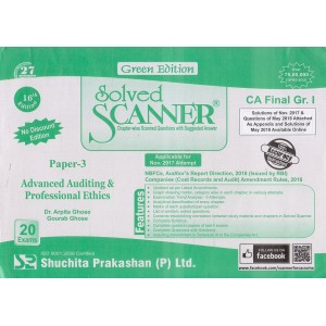 Shuchita Prakashan's Advanced Auditing & Professional Ethics Solved Scanner for CA Final Group 1 Paper 3 May 2019 Exam