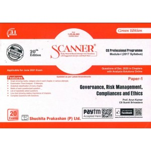 Shuchita Prakashan's Governance, Risk Management, Compliances and Ethics Solved Scanner for CS Professional Module 1 Paper 1 for June 2021 Exam [2017 New Syllabus]