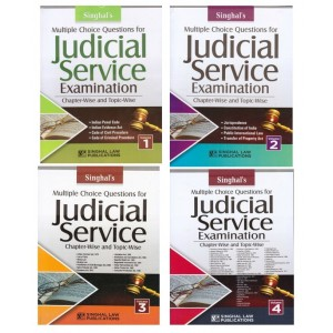 Singhal's Multiple Choice Questions for Judicial Service Examination 2019 [JMFC] Chapter-Wise & Topic-Wise [4 Volumes] | Singhal Law Publication