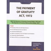 Payment of Gratuity Act, 1972 Bare Act by Adv. S. D. Puri - Snow White Publications