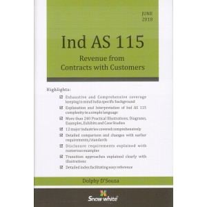 Snow White's Ind As 115 Revenue from Contracts with Customers [HB] by Dolphy D'Souza