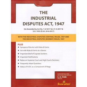 Snow White's Industrial Disputes Act, 1947 Bare Act by Adv. S. D. Puri