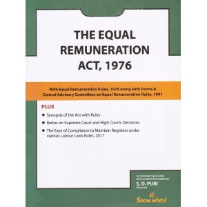Snow White's The Equal Remuneration Act, 1976 Bare Act by Adv. S. D. Puri