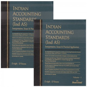 Snow White Publication's Indian Accounting Standards (Ind-AS) with CD by Dolphy D'Souza [2 Vols]
