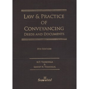 Snow White Publication's Law & Practice of Conveyancing Deeds and Documents with Free CD [HB] by M. T. Tijoriwala, Sandip N. Vimadalal